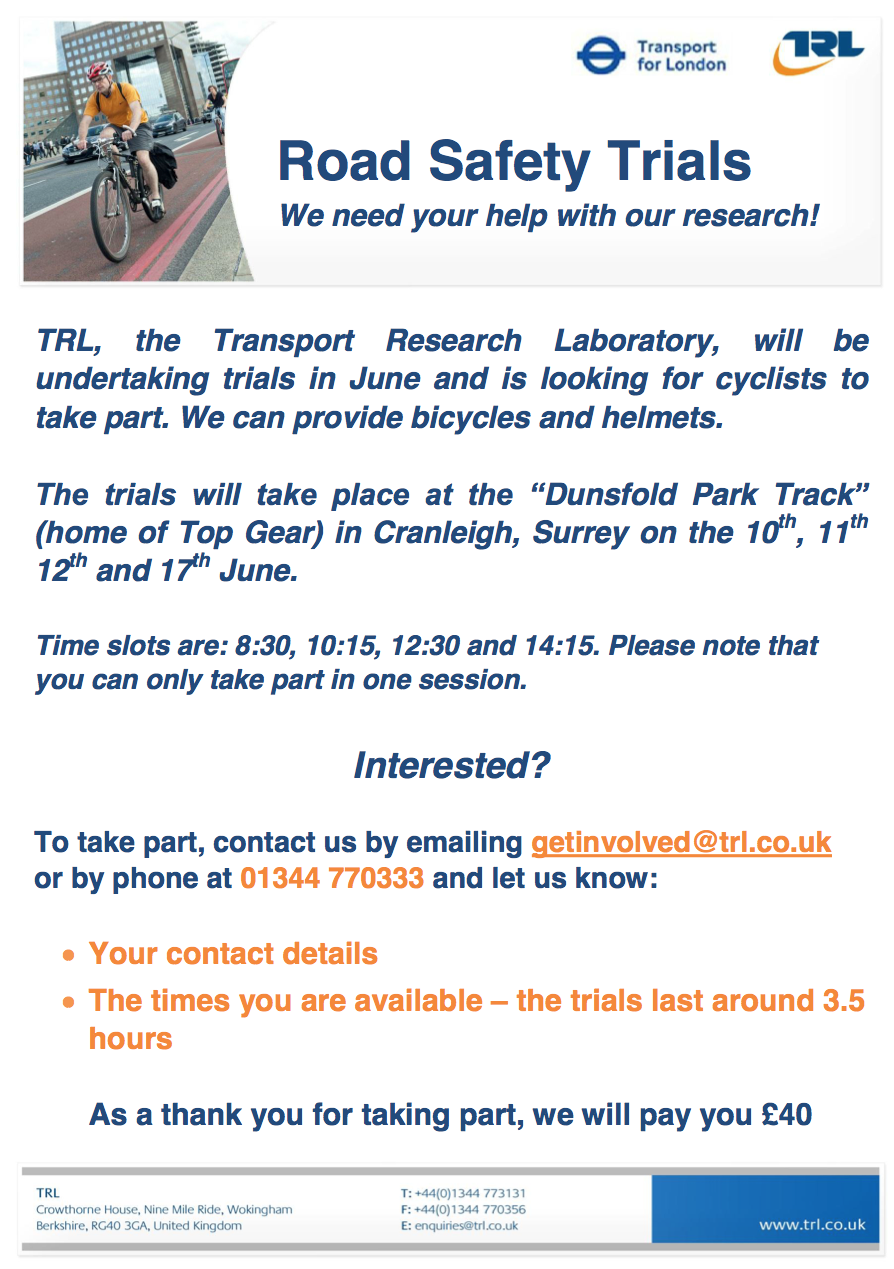 Cycle trials flyer