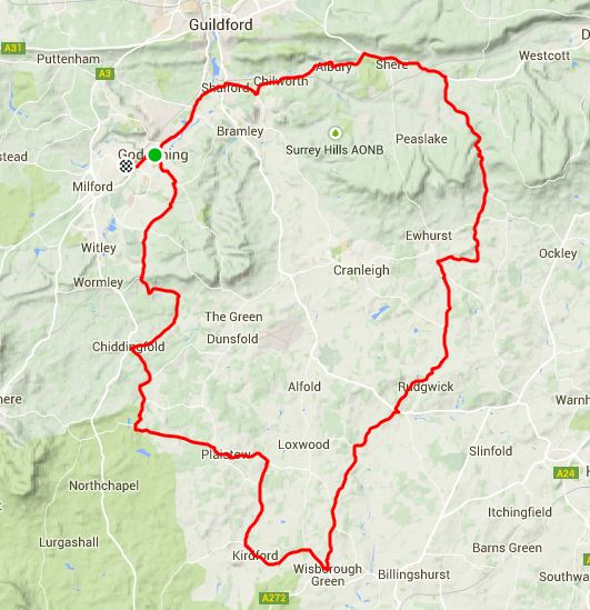 35 mile Reliability Ride Route