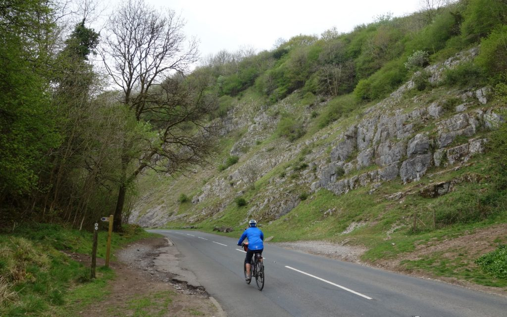 Hilary in Cheddar Gorge