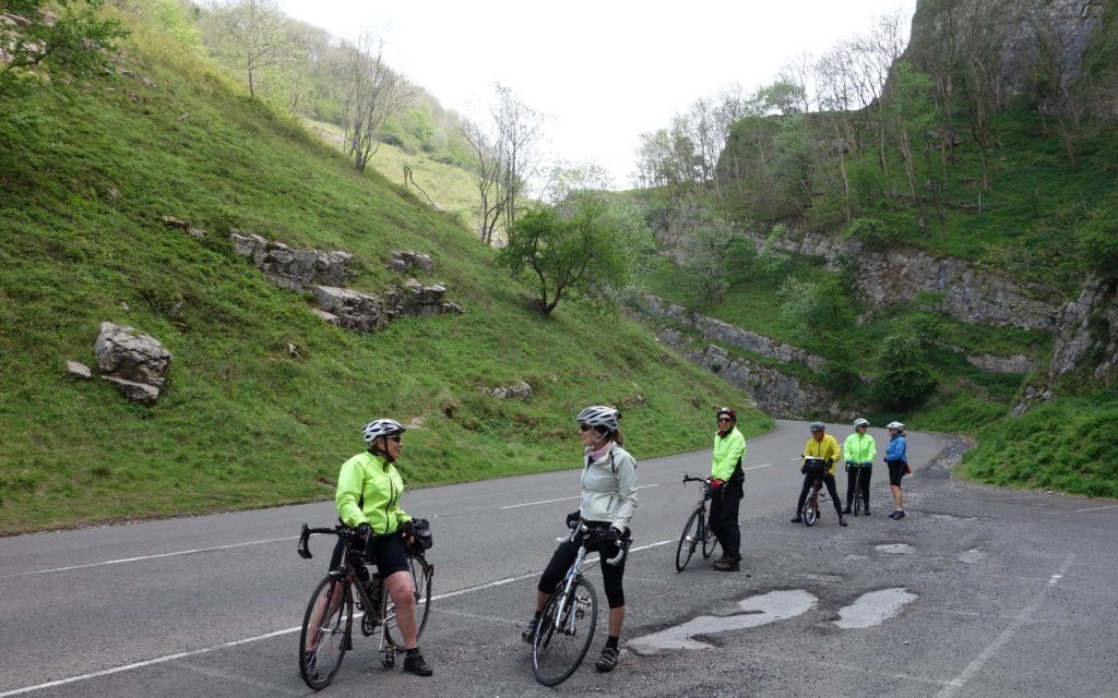 Riders in Cheddar Gorge
